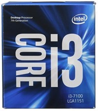 Intel Core i3-7100 3.9GHz 7th Gen CPU Dual-Core 4-Threads DDR4 1866/2133MHz