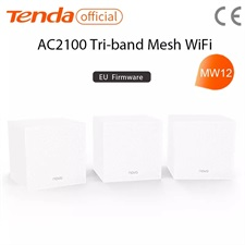 Tenda MW12 AC2100 Whole Home Mesh Wireless WiFi System with Tri-band WiFi Wireless Router and Repeat